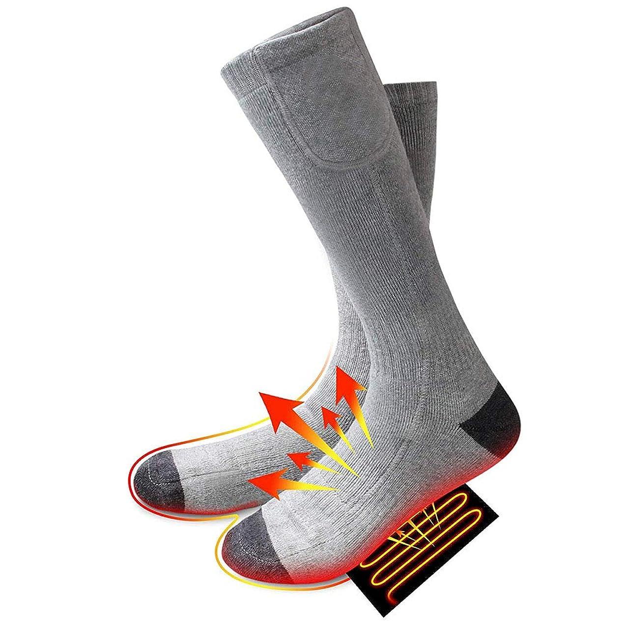 下線横に膜保温靴下、3.7V 4000mAh、3つの温熱設定、充電式バッテリー付き、硬い関節炎の足用、慢性的に冷たい足