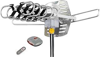 BoostWaves Supreme Amplified Outdoor Remote Controlled HDTV UHF VHF Antenna FM Radio 360..