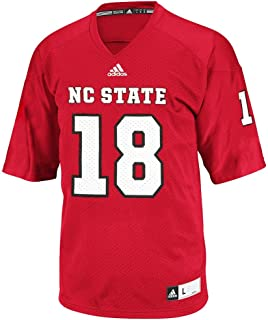 adidas NC State Wolfpack NCAA Official #18 Home Red Football Replica Jersey Men
