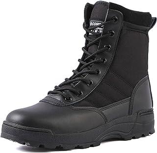 N\C Fans Bottes pour Hommes Bottes de Combat Fans de l'armée Chaussures de randonnée en Plein air Bottes Tactiques Haut de...