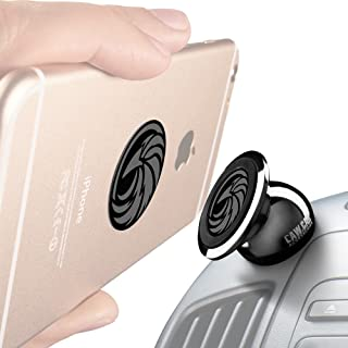 CAW.CAR Universal Magnetic Car Mount - for Any Phone, GPS or Light Tablet   Stylish Black Chrome One-Hand & One-Sec Dash Holder, 100 to Safeness & Comfort