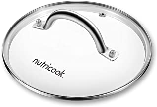Nutricook Tempered Glass Lid by Nutribullet - 22 cm, Compatible with all 6 Liters Smart Pots, Clear