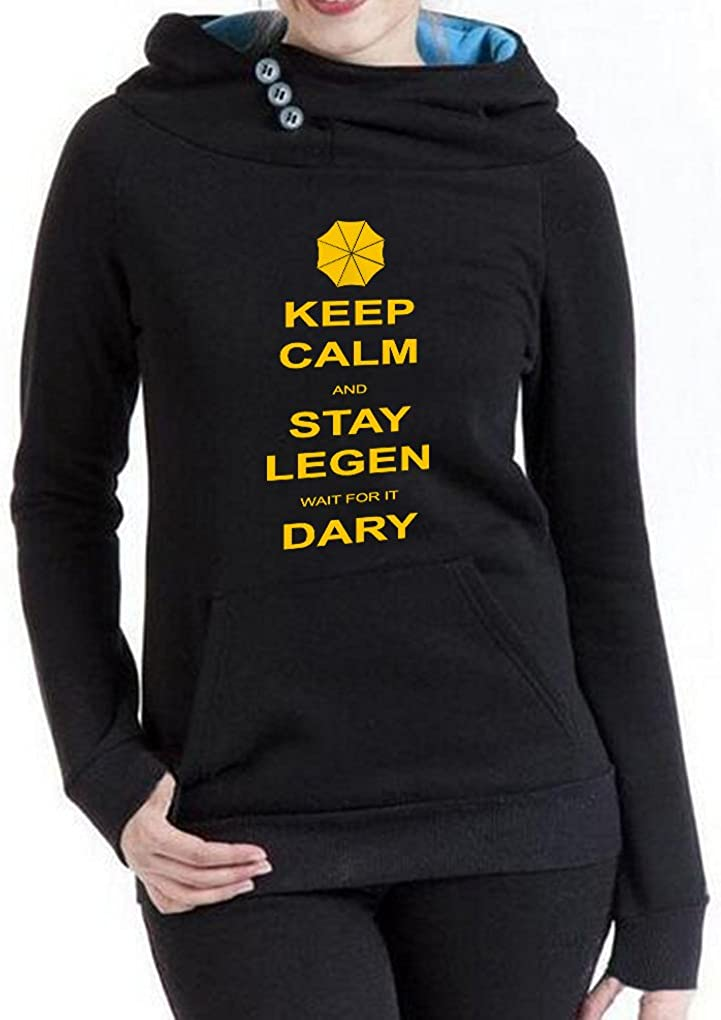 Rui-En Women's New Keep Calm and Max 51% OFF Stay Legen Dary It Genuine for Fun Wait