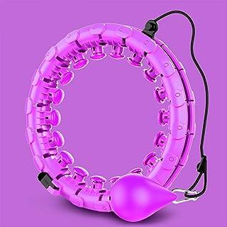 Hula Hoop - Aro de ejercicio para masaje (giratorio, tamaño ajustable), color morado