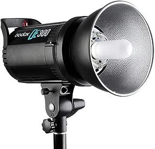 Godox DE300 300W プロ用 スタジオストロボ・フラッシュランプ GN58 ポートレート・ファッションアート写真・商品写真に適用 【AC100-120V/60Hz】ーーー付属品:GODOX Ftr-16受信機433Mhz 、Fomito® オリジナルのクリーニングクロース、グレーカード