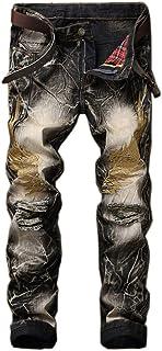 Cartoden ジーンズ メンズ ジーパン デニムパンツ ダメージジーンズ 個性的 ストリート系 刺繍 SC8731