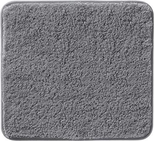 Erwin Müller WC-Vorlage, WC-Matte Uni ohne Ausschnitt, rutschhemmend anthrazit Größe 50x55 cm - ultraweich, extrem saugfähig, flusenarm (weitere Farben)