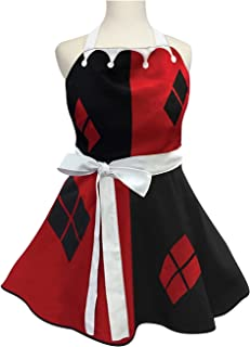 ICUP Womens Harley Quinn Fashion Apron Standard, Multicolor, Standard
