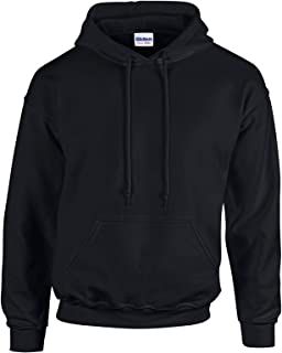 Gildan Black Hoodie Heavy Blend Blank Plain Hooded Sweat Sweater Big Mens S -5XL