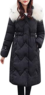 Parka Coat Women Winter Coat Thick Warm Winter Jacket with Faux Fur Collar Quilted Casual Jacket Long Zipper Coat