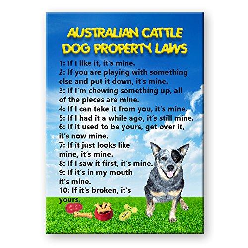 Australian Cattle Dog Property Laws Fridge Magnet
