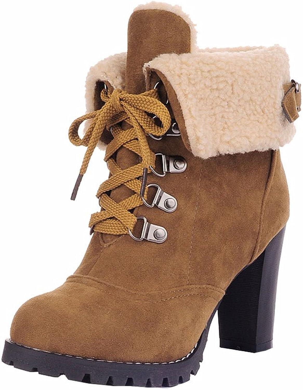 Women Ankle Boots High Heels Lace up Snow Boots Platform Pumps keep warm women boots