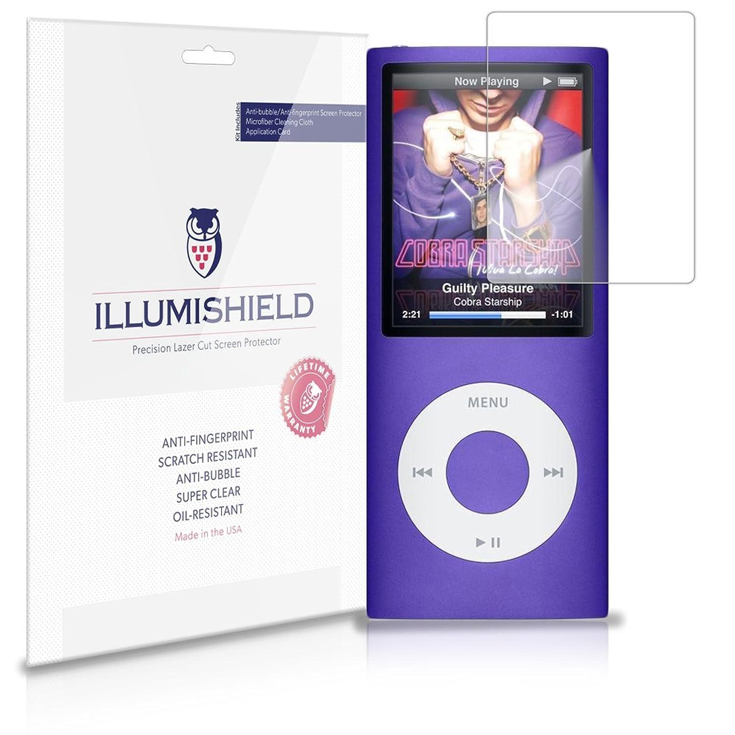 Apple iPod nano 4 Screen Protector (4th Gen)[3-Pack], iLLumiShield - Japanese Ultra Clear HD Film with Anti-Bubble and Anti-Fingerprint Shield
