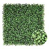 NICENATURE Artificial Boxwood Panels Topiary Hedge Plant, UV Protected Privacy Fence, Greenery Wall, Outdoor Indoor Decoration, 12 Pack 20 X 20 inches