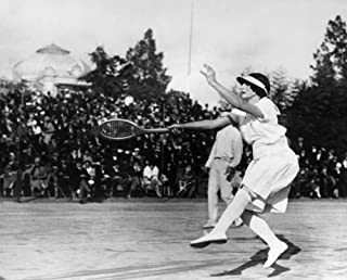 Helen Newington Wills N(1906-1998) American Tennis Player Wills Competing In A Doubles Match At A Tournament In Nice France 1926 Poster Print by (18 x 24)