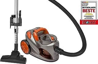 Bomann BS 9018 CB Aspiradora de trineo sin bolsa, eficiencia energ?tica A, 700 W, 1.25 litros, 76 Decibelios, Pl?stico, Gris y naranja
