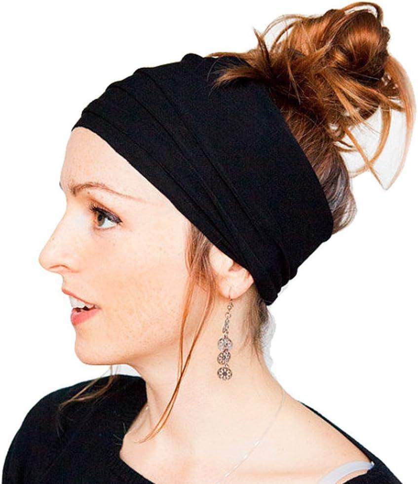 Herren Yoga SPORTS Breit Stirnband Elastisch Boho Haarband Handgelenk Damen
