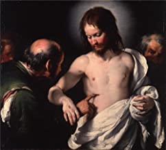 'Bernardo Strozzi The Incredulity Of Saint Thomas ' Oil Painting, 20 X 22 Inch / 51 X 56 Cm ,printed On Polyster Canvas ,this Replica Art DecorativePrints On Canvas Is Perfectly Suitalbe For Bedroom Decor And Home Decoration And Gifts