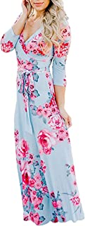 blue and pink maxi dress