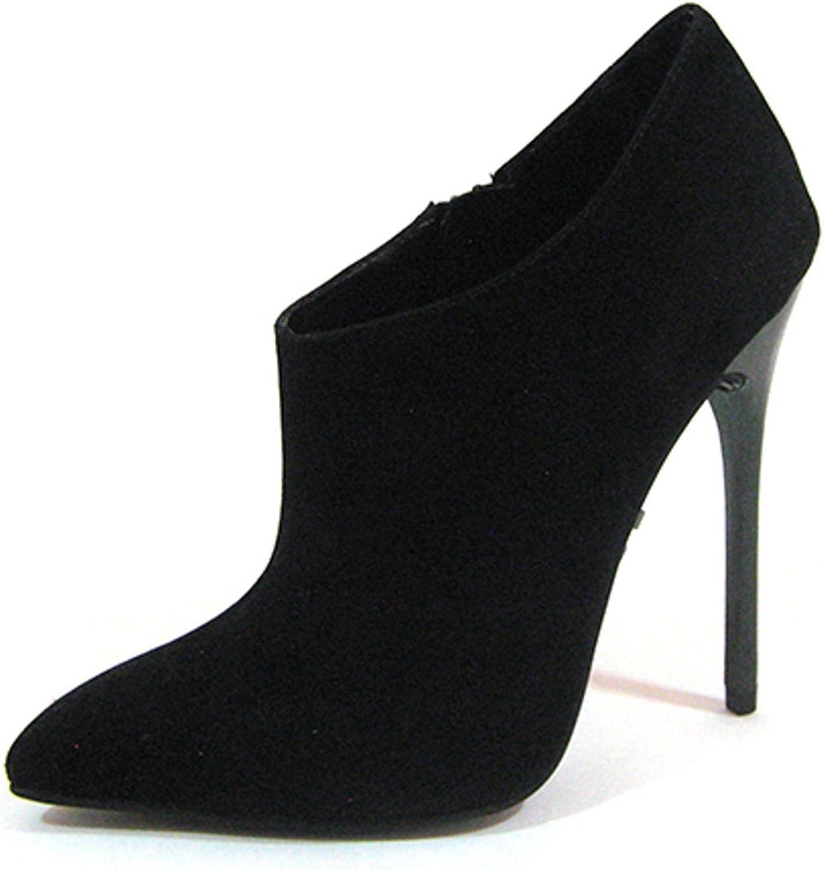 Highest Heel Women's Fierce-91 Bootie,Black Suede PU,US 7 M