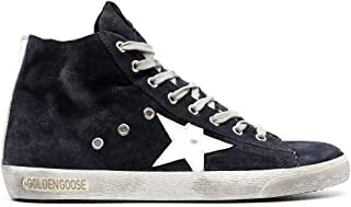 Golden Goose Luxury Fashion Uomo GMF00113F00032250517 Blu Pelle Hi Top Sneakers | Autunno-Inverno 20