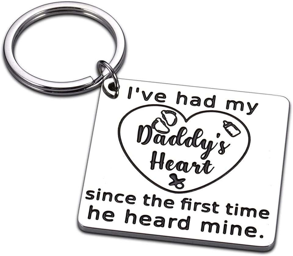 Sweet Dad Keychain Gift Daddy Papa New Dad Father's Day Gifts for Husband from Wife Kids Baby Father Daughter Son Gifts Birthday Christmas Thanksgiving Valentine's Day Gift Idea