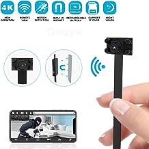 Hidden Camera Spy Camera Wireless Hidden WiFi Camera - 4K HD Small Nanny Cam Mini Camera - DIY Camera 2500mAh Home Security Camera with Night Vision/Motion Detection, App Supports iOS/Android/PC