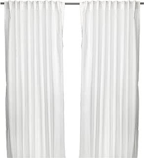 Ikea Thin Curtains, 1 Pair, White