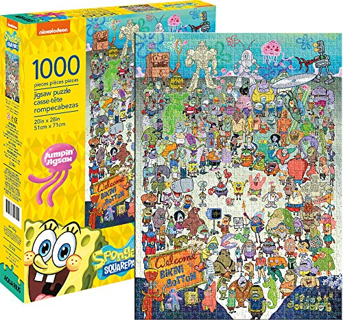 Aquarius Spongebob Squarepants Cast 1000 Pc Puzzle, Multicolor (65361)