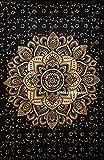 Future, handgefertigtes Bettlaken mit Mandala-Motiv,