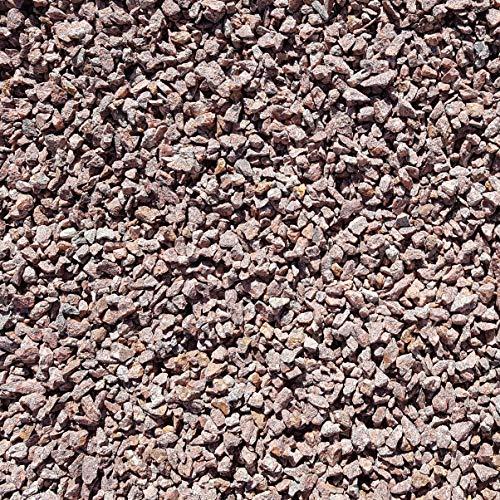Granitsplitt rot 96 Kg Granit Splitt Zierkies Gartenkies Teichkies Waschkies 8-16 mm