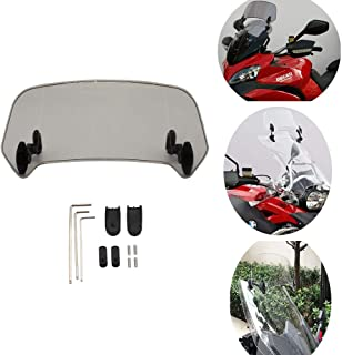 Coolsheep Motorcycle Extension Spoiler Windscreen Adjustable Windshield Extension Spoiler Windscreen Air Deflector for Suzuki V-Strom 650 1000 DL650 DL1000 DRX DRZ GW250F GS500F Hayabusa GSX1300R