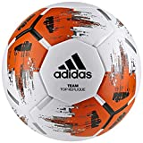 adidas Team TopRepliqu Ballon de Football Adulte Unisexe, Blanc/Orange/Noir/Fer Métallique, 5