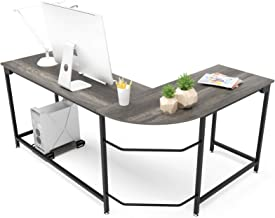 Hago Modern L-Shaped Desk Corner Computer Desk Home Office Study Workstation Wood &..