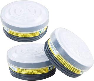 Organic Vapor Full Face Respirator Respiratory Protection With Safety Respirator (3 Pack LDY7 Filter Cartridges)