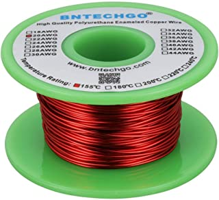 """BNTECHGO 20 AWG Magnet Wire - Enameled Copper Wire - Enameled Magnet Winding Wire - 4 oz - 0.0315"""" Diameter 1 Spool Coil R..."""