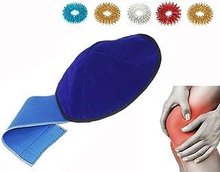 Acupressure Magnetic Knee Support Belt Treats Knee Pain, Arthritis, Joint Pain, Swelling + 5pcs Sujok Acupressure Rings Common Size for All Blue Velvet