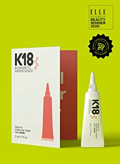 K18 LEAVE-IN MOLECULAR HAIR MASK, Maschera Per Capelli Peptidica Bioattiva Idratante Senza Risciacquo K18 [5ml]