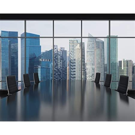 10x8ft Agent Office Background Famous Building Photography Backdrop for Movie Fans Photo Video Props LHFU702
