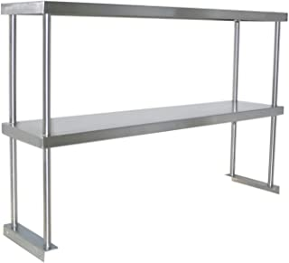 Adjustable Double Overshelf 14 x 30 - Stainless Steel for Work Table