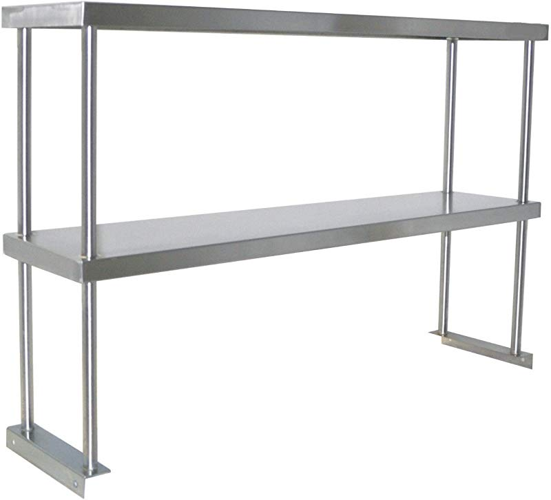 Adjustable Double Overshelf 14 X 48 Stainless Steel For Work Table