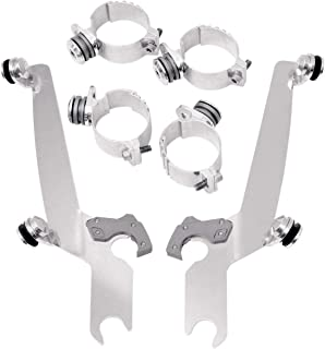 Memphis Shades 07-17 Harley FXDB3 Trigger-Lock Mounting Kit (Polished/Sportshields)