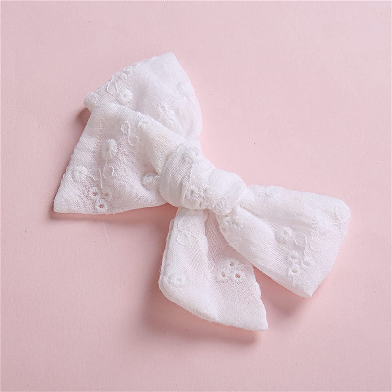 New York Mall Hair Limited time for free shipping accessories Pure White Lace Hollow Clips Bows Out