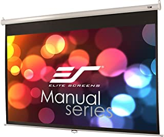 Elite Screens Manual Series, 84-INCH 16:9, Pull Down Manual Projector Screen with AUTO..