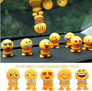 YSSHUI Creative Ornaments Emoji Shaking Head Dolls Bobble Head Toys Action Figures Bounce Toys for Car Dashboard/Home/Table Decor