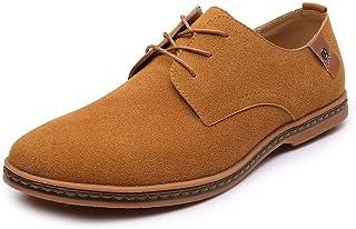 223edb79c1924 KItipeng Chaussures De Ville à Lacets pour Homme,Cuir Brogue Business Cuir  Vernis Derby Mariage