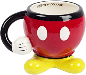 Disney Mickey Mouse Red Drinking Mug with Arm