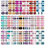 20 Sheets Nail Polish Strips Full Nail Wraps,Self-Adhesive Nail Art Adhesive Nail Design Manicure Designs