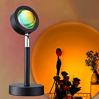 Sunset Lamp Projector, LED Rainbow Projection Light USB Sunset Lamp Projector Romantic Visual LED Light with 16 Colors Mod...