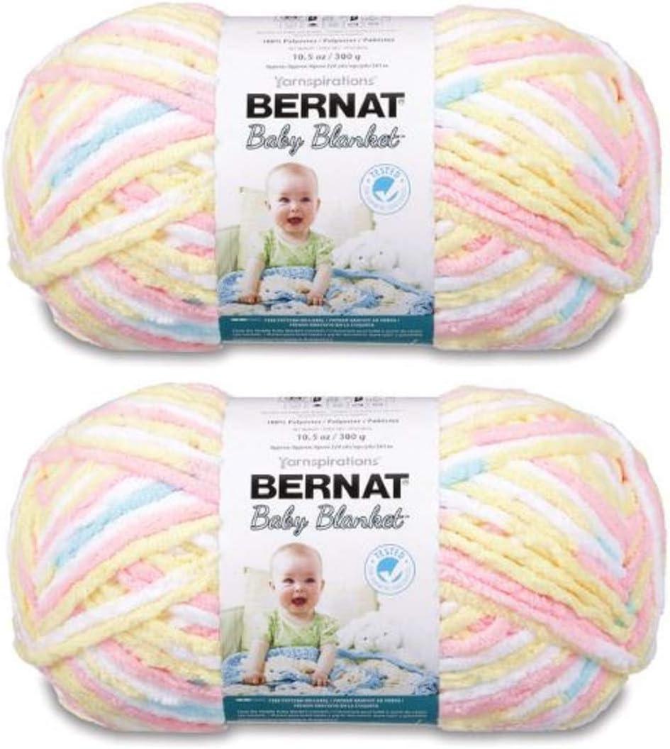 Bernat Baby Blanket Max 55% OFF Big Ball 2-Pack Max 48% OFF Yarn 161104- Patter Pitter